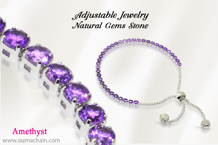 Adjustable Jewellery Natural Amethyst