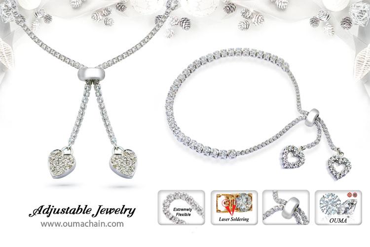 B1615G201 Adjustable Jewellery Shining Heart